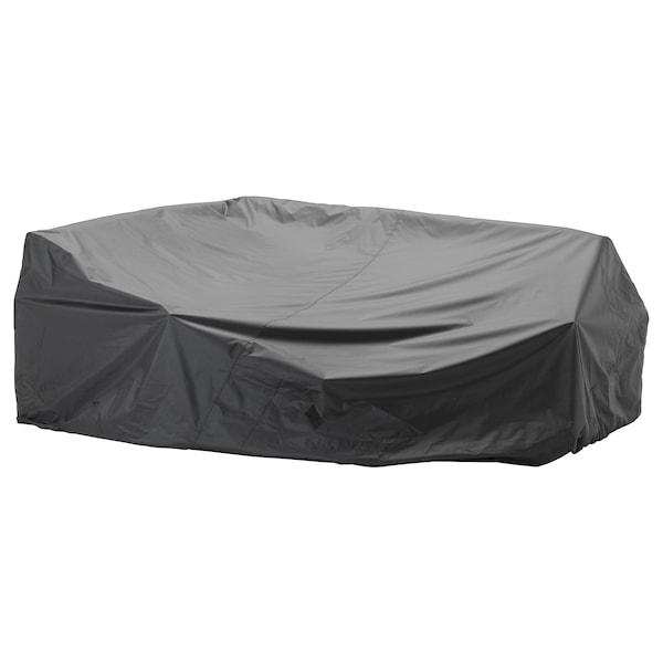TOSTERÖ Cap p/móveis p/ext, sofá/preto, 260x165 cm