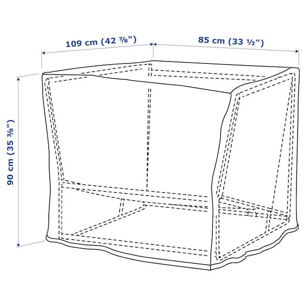 TOSTERÖ Cap p/móveis p/ext, sofá/preto, 109x85 cm