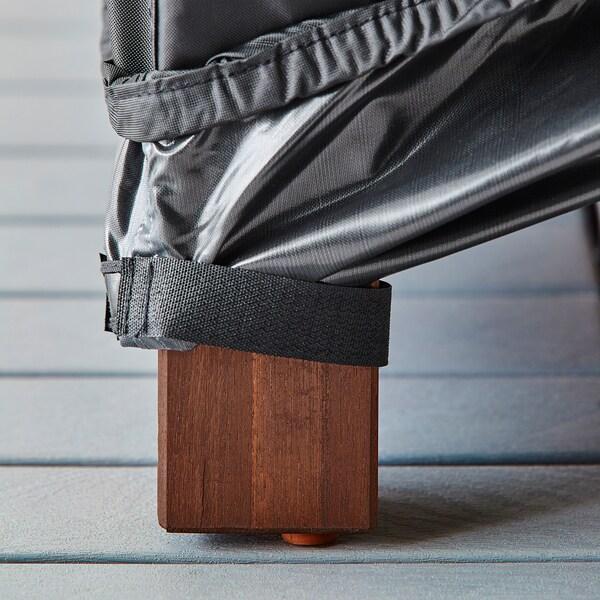 TOSTERÖ Capa p/espreguiçadeira, preto, 200x60 cm