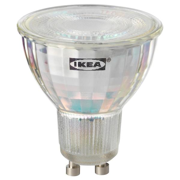 TRÅDFRI lâmpada LED GU10 400 lúmens ilum regulável s/fios espectro branco 400 Lumen 2700 K 58 cm 5 W 50 cm
