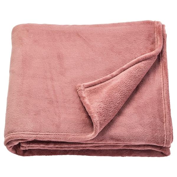 TRATTVIVA Colcha, rosa escuro, 150x250 cm