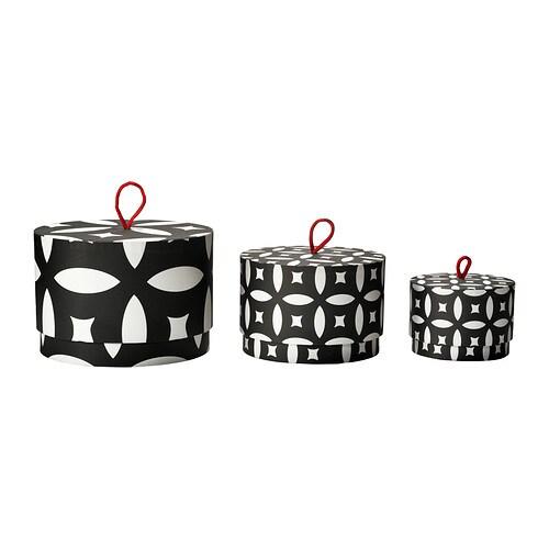 TRENDIG 2013 Caixa c/tampa, 3 uds IKEA Ajuda-o a organizar desde fios e joias a maquilhagem e ganchos do cabelo.