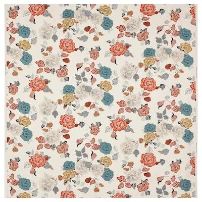 TROLLMAL Tecido a metro, cru/padrão florido, 150 cm