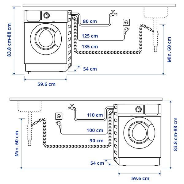 TVÄTTAD Máquina lavar/secar roupa integrada, branco