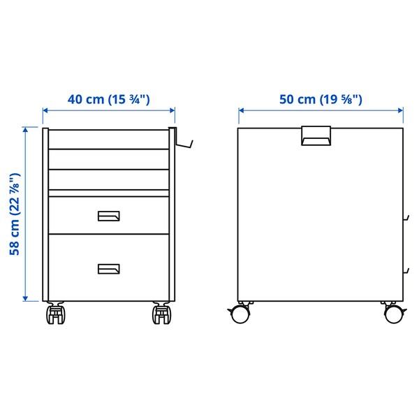 UPPSPEL Bloco de gavetas c/rodízios, preto, 40x58 cm