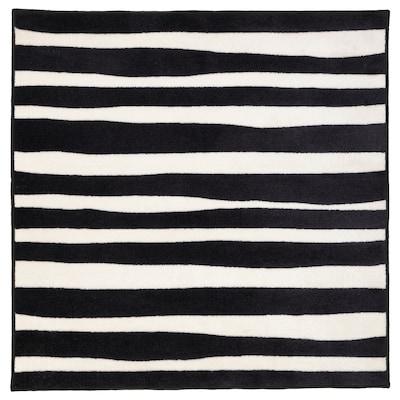 URSKOG Tapete pelo curto, zebra/às riscas, 133x133 cm