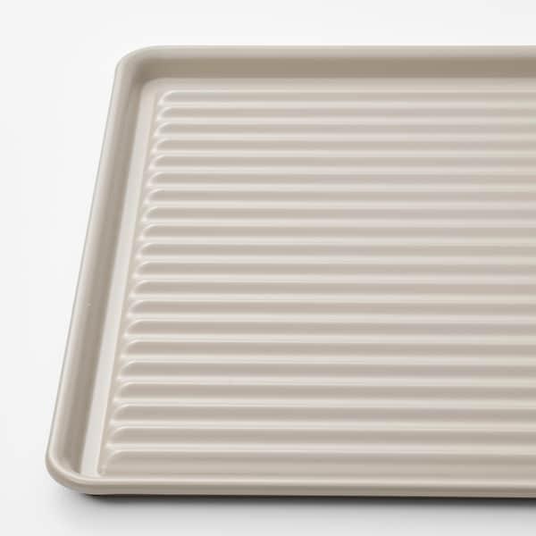 VÄLVÅRDAD Escorredor p/loiça, bege/galvanizado, 52x35 cm