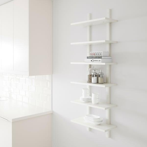 VÄRDE Estante de parede, branco, 50x140 cm