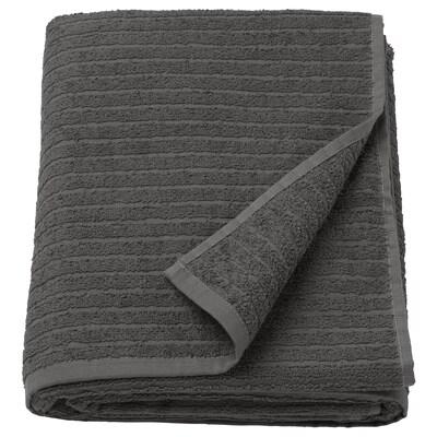 VÅGSJÖN Lençol de banho, cinz esc, 100x150 cm