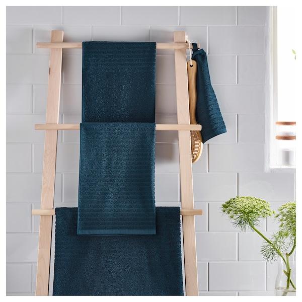 VÅGSJÖN Toalha de bidé, azul escuro, 30x50 cm