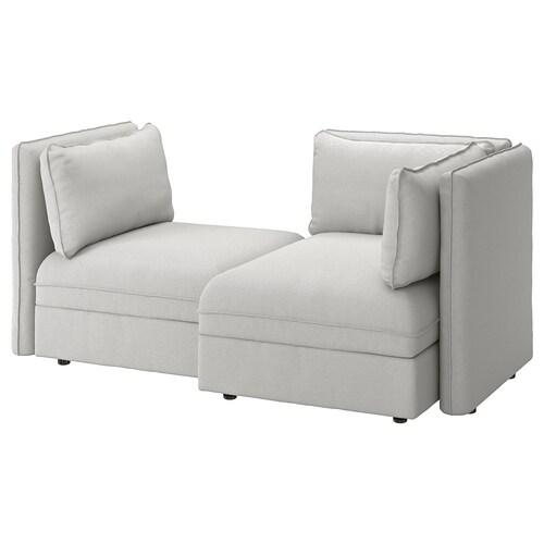 IKEA VALLENTUNA Sofá modular 2lug c/sofá-cama