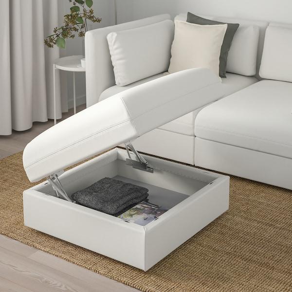 VALLENTUNA Módulo de assento c/arrumação, Murum branco