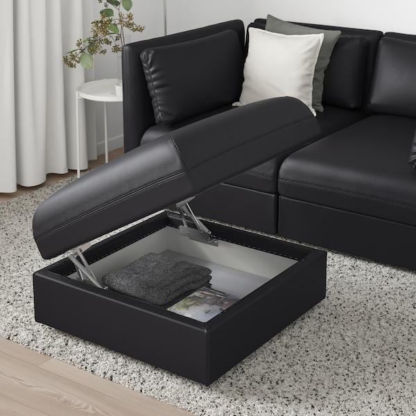 VALLENTUNA Módulo de assento c/arrumação, Murum preto