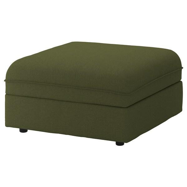 VALLENTUNA Módulo de assento c/arrumação, Orrsta verde azeitona