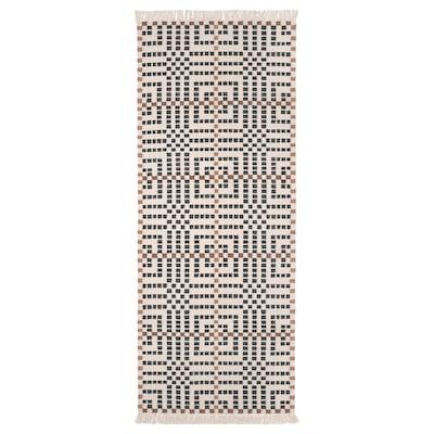 VAMDRUP Tapete, tecelagem plana, feito à mão/multicor, 80x200 cm
