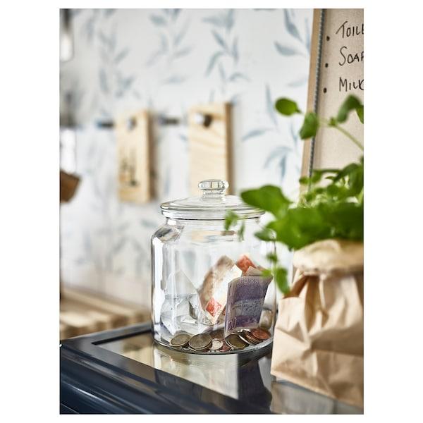VARDAGEN Recipiente c/tampa, vidro transparente, 1.9 l
