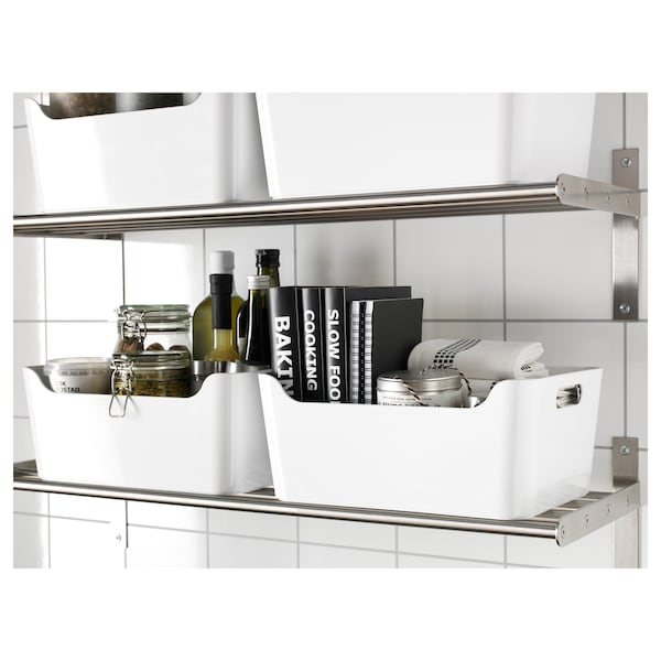 VARIERA Caixa, branco, 34x24 cm