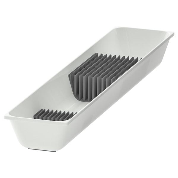 VARIERA Tabuleiro p/facas, branco, 10x50 cm