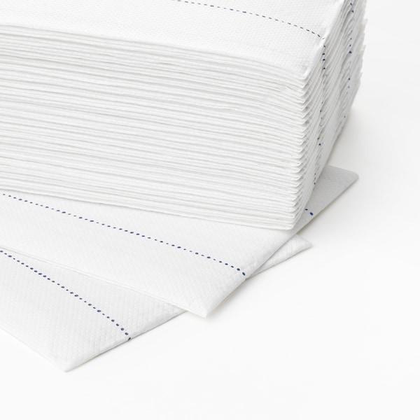 VERKLIGHET Guardanapo de papel, branco/azul, 38x38 cm