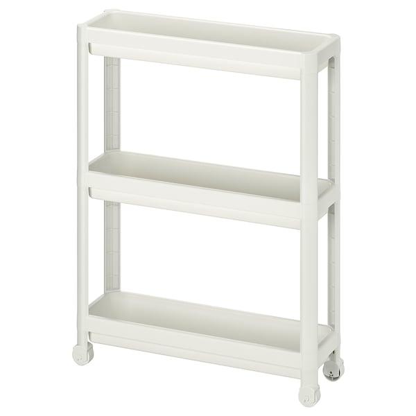 VESKEN Carrinho, branco, 54x18x71 cm