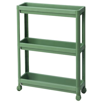 VESKEN Carrinho, verde, 54x18x71 cm