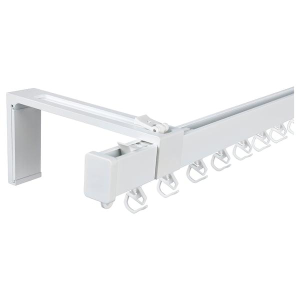 VIDGA Conjunto calha simples p/parede, branco