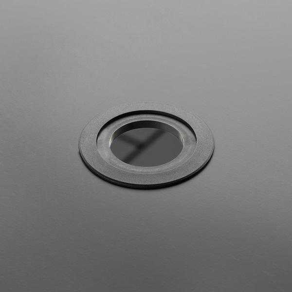 VIHOLMEN Mesa, exterior, cinz esc, 135x74 cm