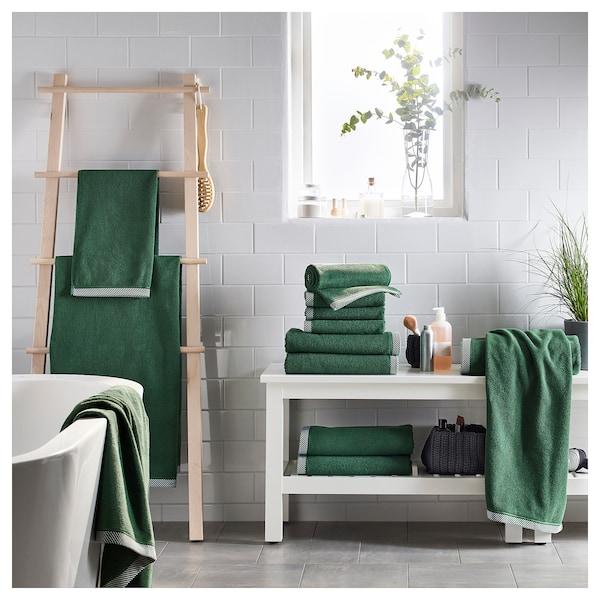 VIKFJÄRD Toalha de bidé, verde, 30x50 cm