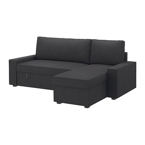 Vilasund sof cama c chaise longue dansbo cinz esc ikea for Chaise longue sofa cama