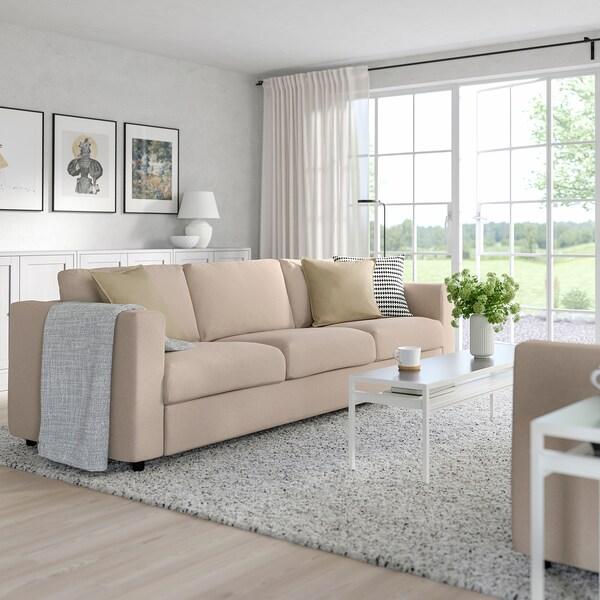 VIMLE sofá-cama 3 lugares Tallmyra bege 53 cm 83 cm 68 cm 261 cm 98 cm 241 cm 55 cm 48 cm 140 cm 200 cm 12 cm