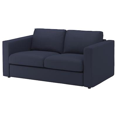 VIMLE sofá 2 lugares Orrsta azul-preto 83 cm 68 cm 171 cm 98 cm 6 cm 15 cm 141 cm 55 cm 48 cm
