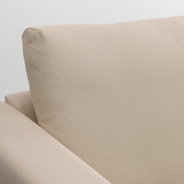 VIMLE Sofá-cama 3lg c/chaise longue, Hallarp bege