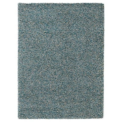 VINDUM Tapete pelo comprido, verde azulado, 170x230 cm