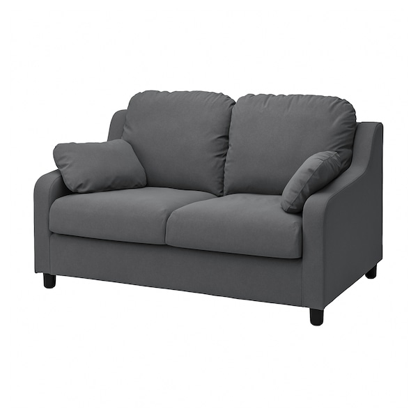VINLIDEN Capa p/sofá 2 lugares, Hakebo cinz esc