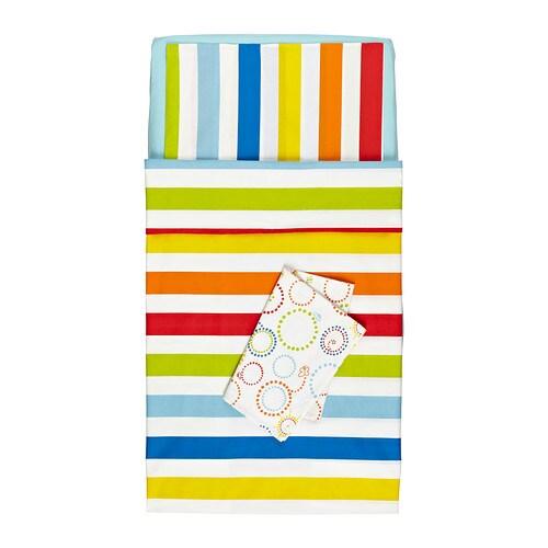 VITAMINER RAND Roupa de cama p/berço, 4 peças IKEA