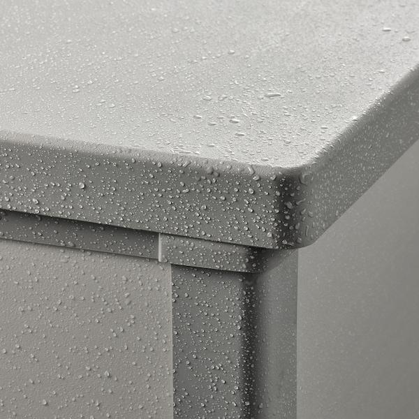 VRENEN Caixa arrumação, exterior, cinz clr/cinz, 156x71x93 cm/819 l
