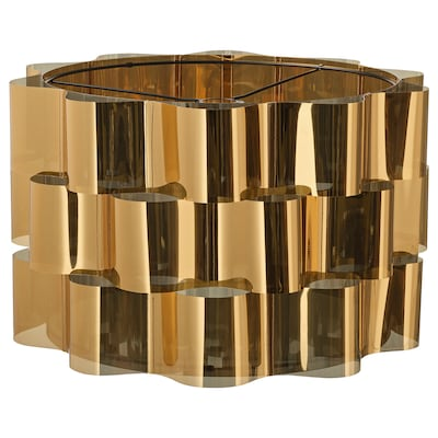 ÄLVSTARR Lamp shade, gold-colour, 51 cm