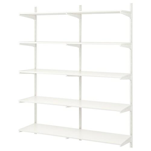 ALGOT wall upright/shelves white 176 cm 41 cm 197 cm