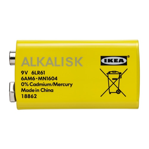 ALKALISK Battery alkaline IKEA Alkaline batteries have a longer life and are more environmentally friendly than manganese dioxide batteries.