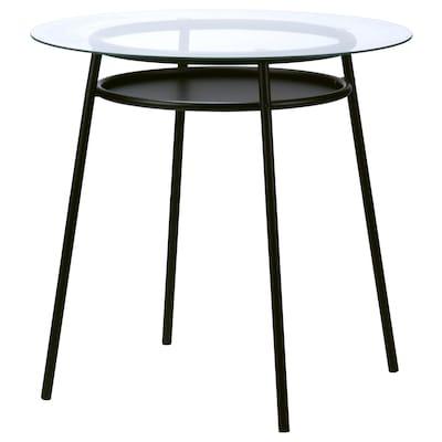 ALLSTA Table, glass/metal black