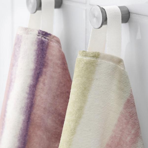 ALPDRABA Bath towel, pink/stripe, 70x140 cm