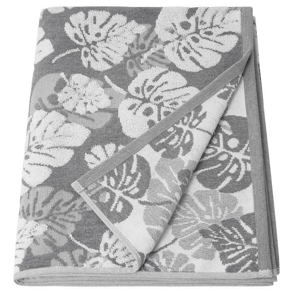 ALSKABÄCKEN Bath sheet, grey, 100x150 cm
