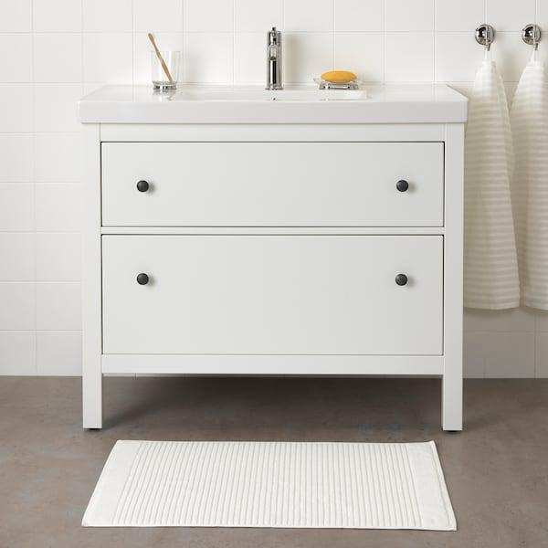 ALSTERN Bath mat, white, 50x80 cm
