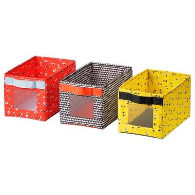 ANGELÄGEN Box, multicolour, 18x27x17 cm 3 pack