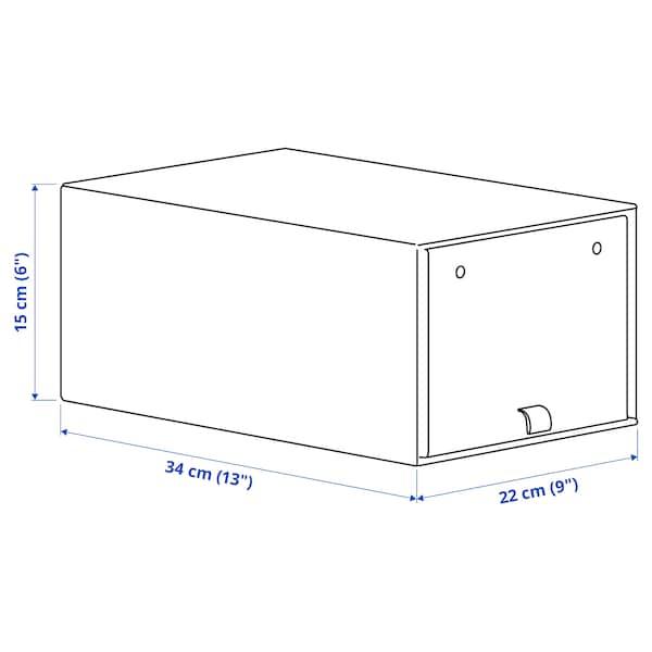 ANILINARE Shoe box, dark brown, 34x22x15 cm