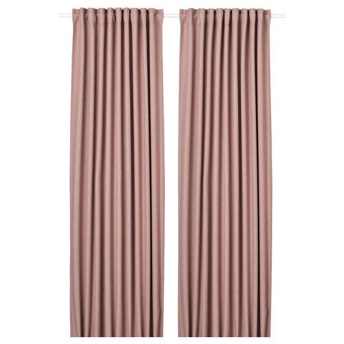 ANNAKAJSA room darkening curtains, 1 pair pink 300 cm 145 cm 3.99 kg 4.35 m² 2 pack