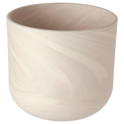 BACKSMULTRON Plant pot, in/outdoor beige/grey, 15 cm