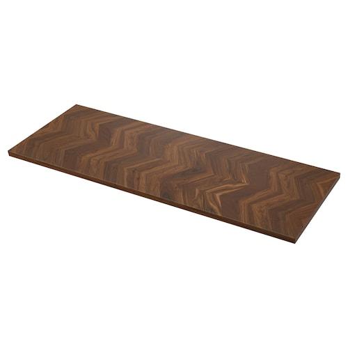 BARKABODA worktop walnut/veneer 3 mm 246 cm 63.5 cm 3.8 cm