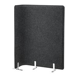 BEKANT screen for desk, grey