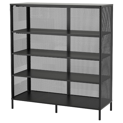BEKANT Shelving unit, black, 121x134 cm